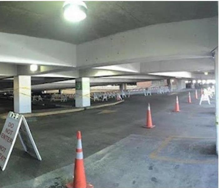 Parking Deck - Fire Soot and Smoke Cleanup After